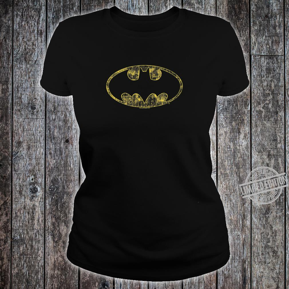 Batman Tattered Logo Shirt ladies tee