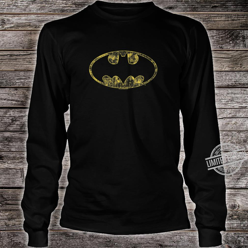Batman Tattered Logo Shirt long sleeved