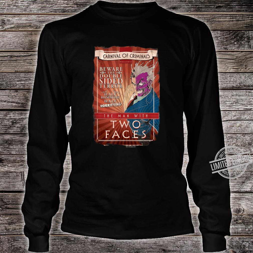 Batman TwoFaces Shirt long sleeved