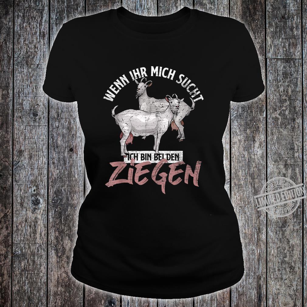 Bauern Geschenk Tiermotiv Ziege Shirt ladies tee