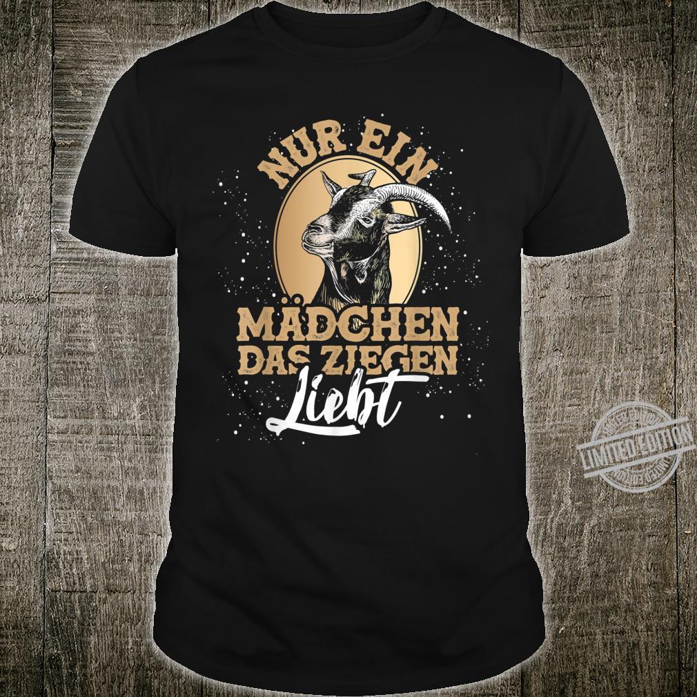Bauernhof Geschenk für Mädchen Tiermotiv Ziege Shirt
