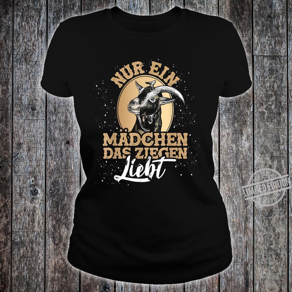 Bauernhof Geschenk für Mädchen Tiermotiv Ziege Shirt ladies tee