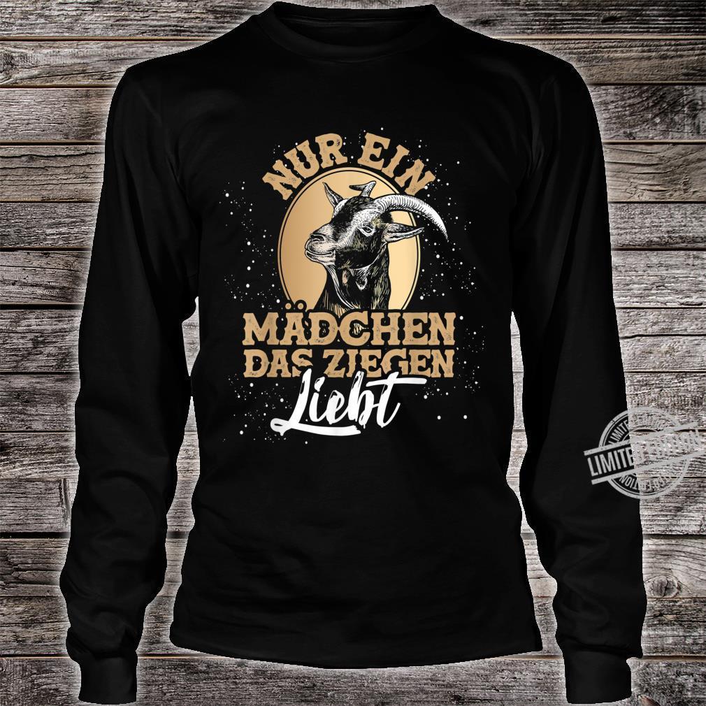 Bauernhof Geschenk für Mädchen Tiermotiv Ziege Shirt long sleeved