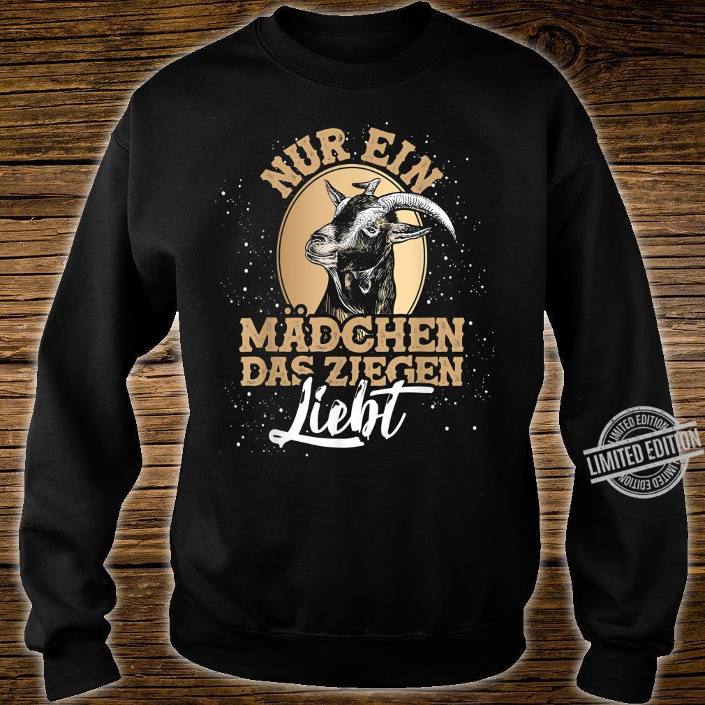 Bauernhof Geschenk für Mädchen Tiermotiv Ziege Shirt sweater