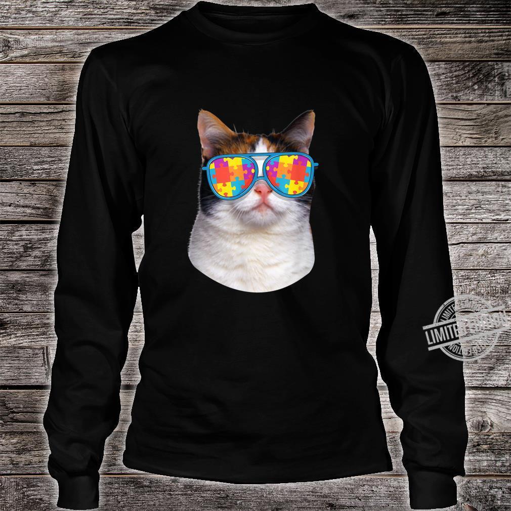 Cat Autism Awareness Japanese Bobtail Shirt long sleeved