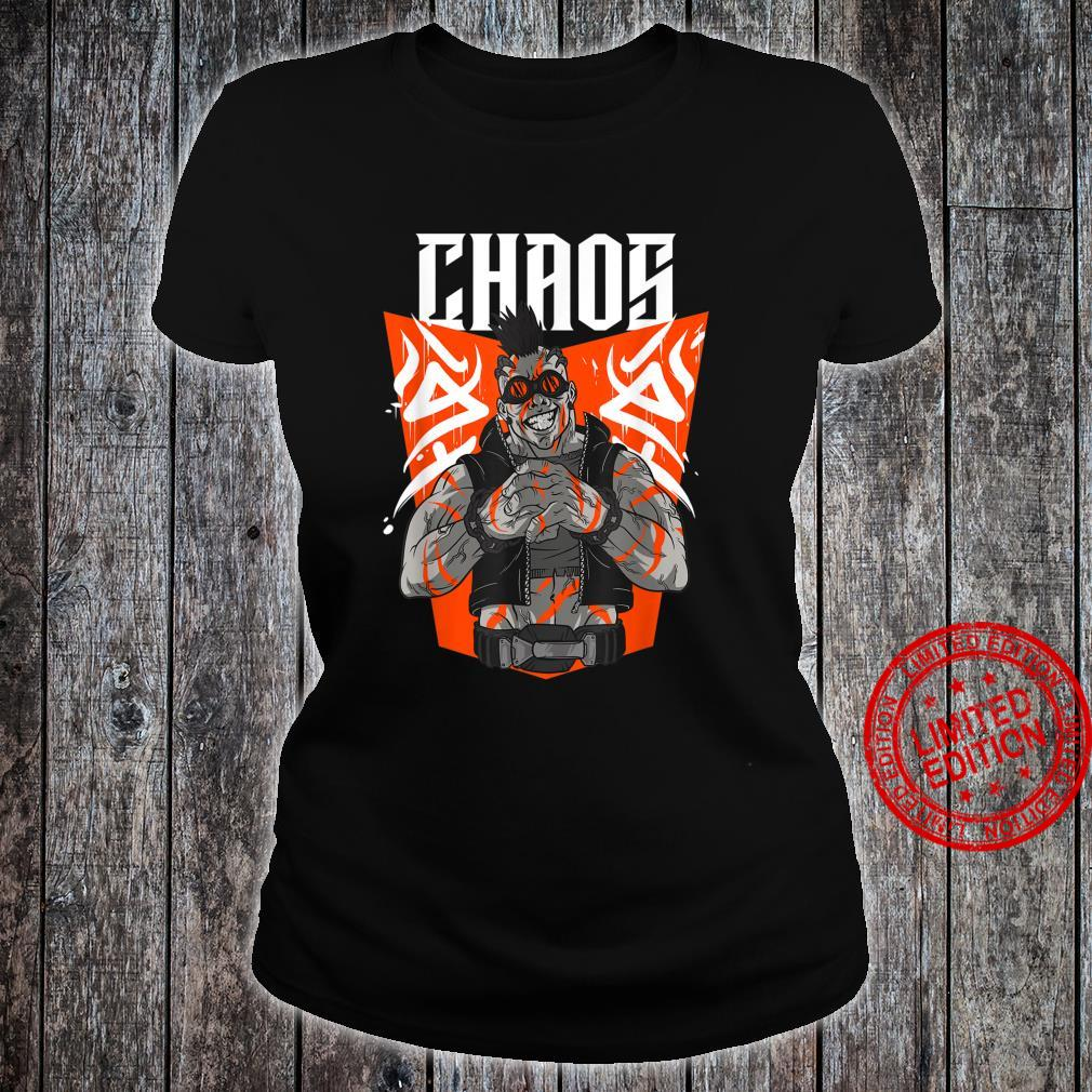 Chaos Steampunk Goggles Tattooed Apocalyptic Street Punk Shirt ladies tee