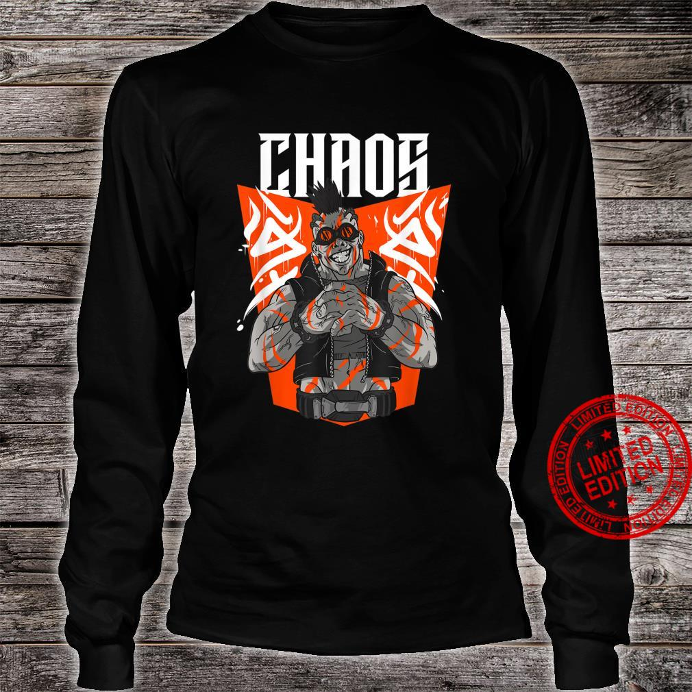 Chaos Steampunk Goggles Tattooed Apocalyptic Street Punk Shirt long sleeved