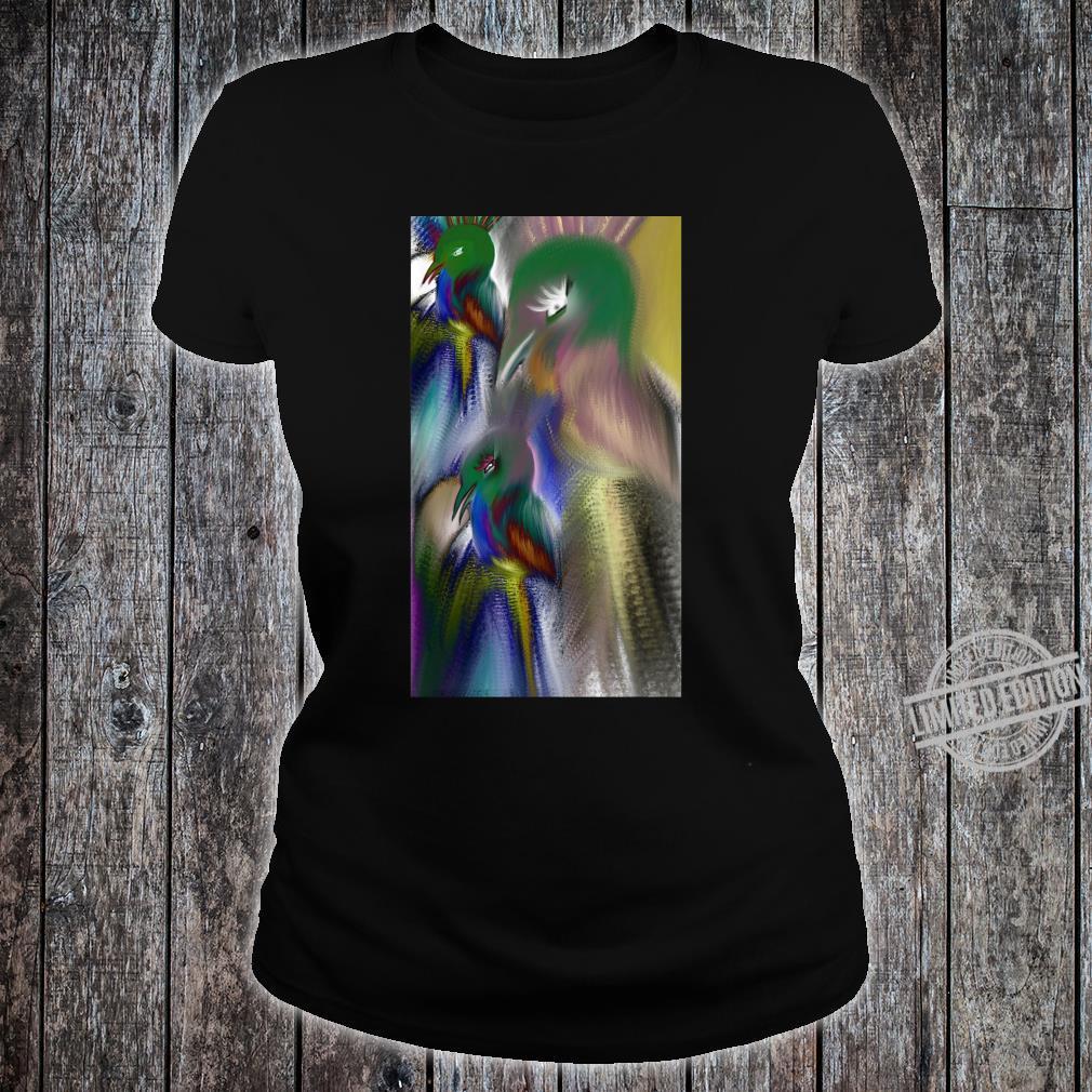 Colorful bird Shirt ladies tee