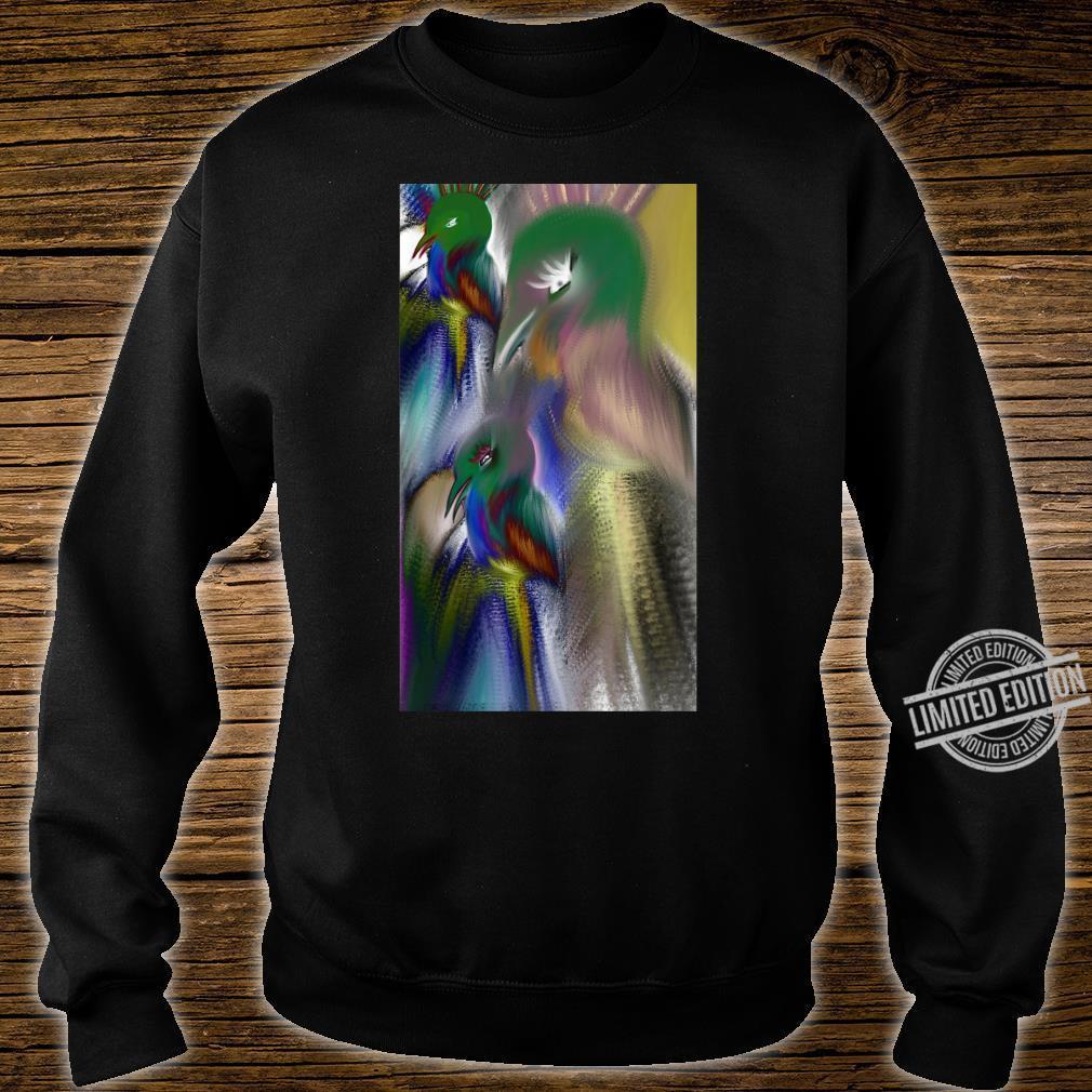 Colorful bird Shirt sweater