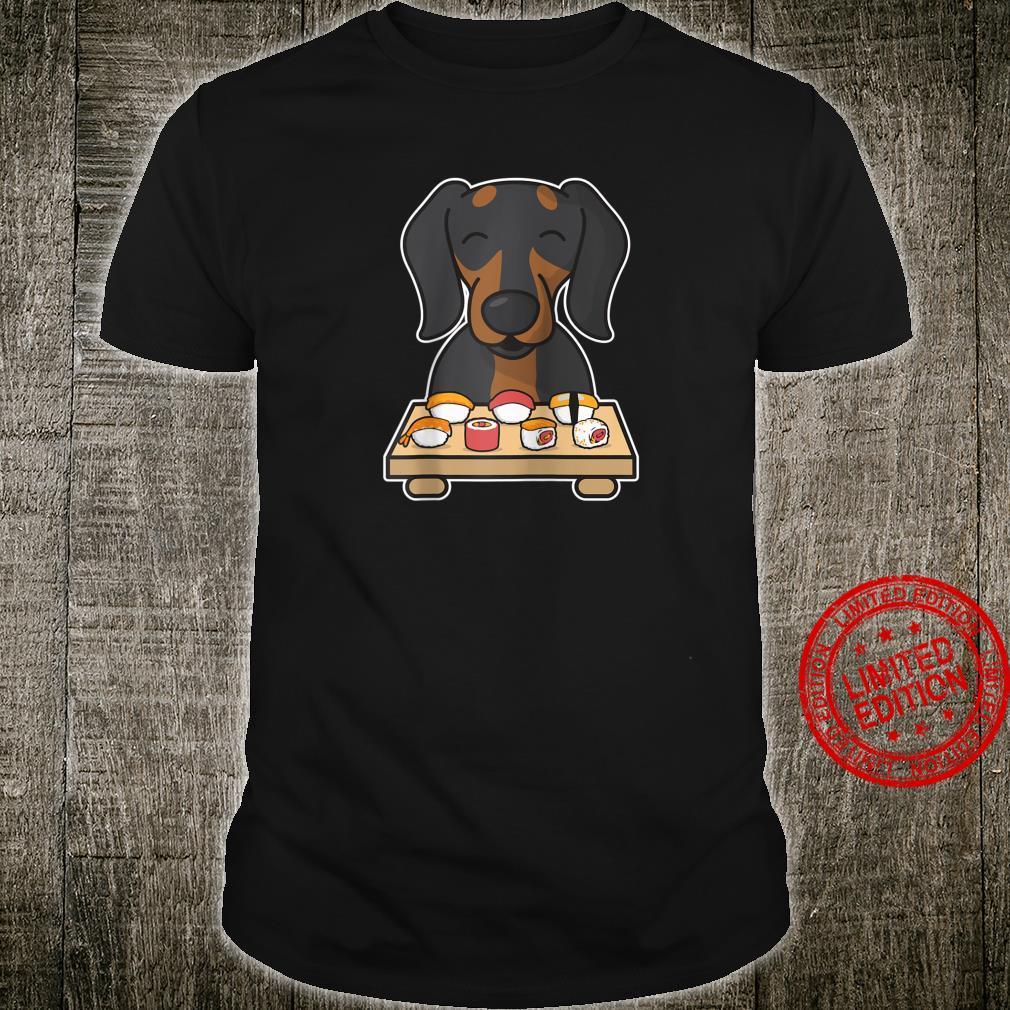Dachshund Eating Sushi Kawaii Wiener Dog Shirt