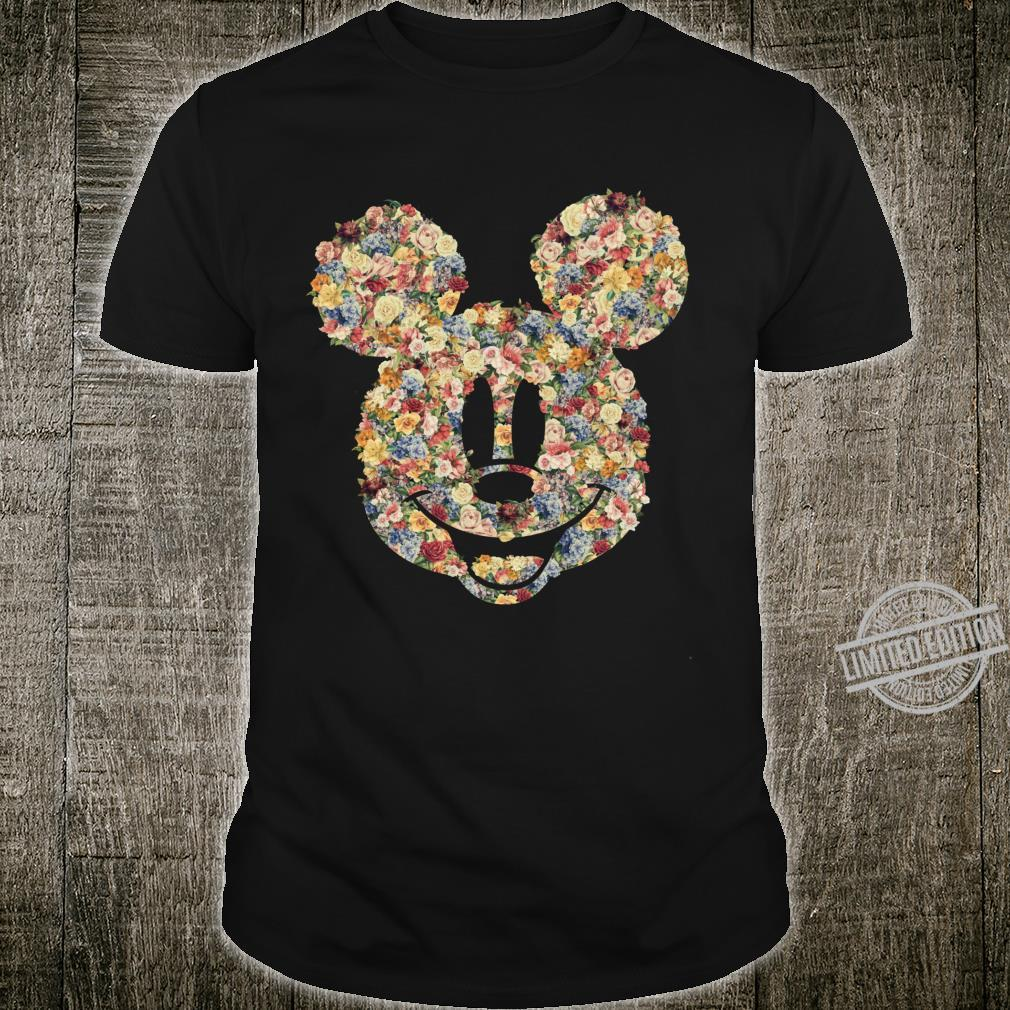 Disney Mickey And Friends Mickey Mouse Floral Fill Langarmshirt Shirt