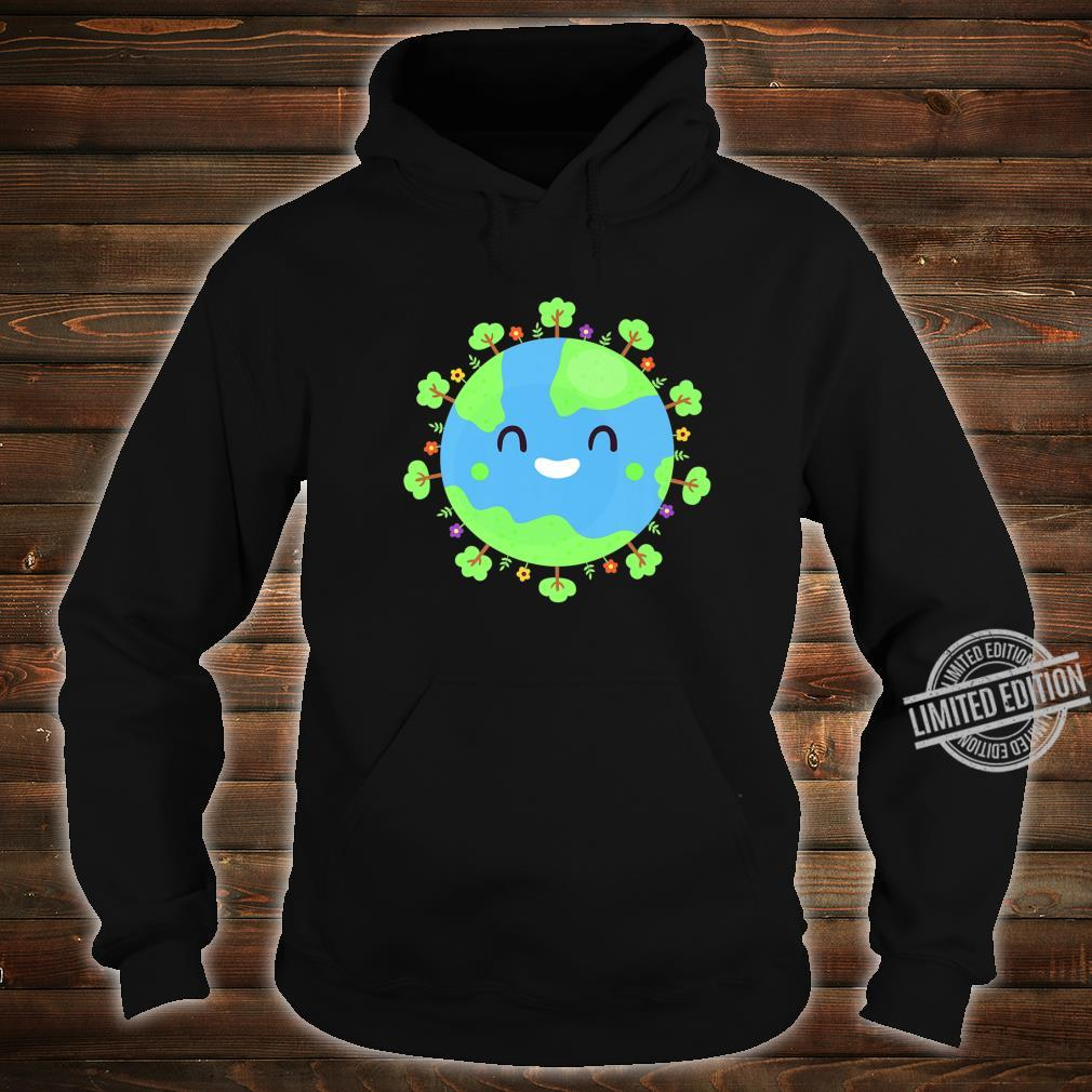 Earth Globe Smiling Earth Day Nature Trees Save Environment Shirt hoodie