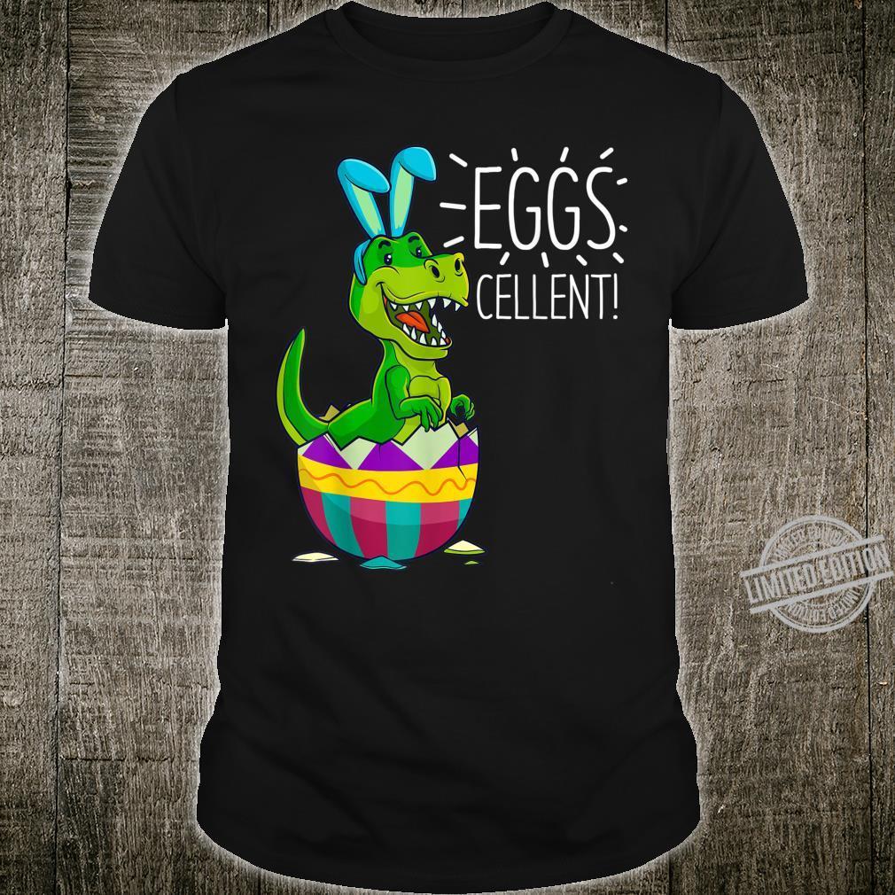 Easter Basket Stuffers Cute T Rex Bunny Egg Eggscellent Shirt