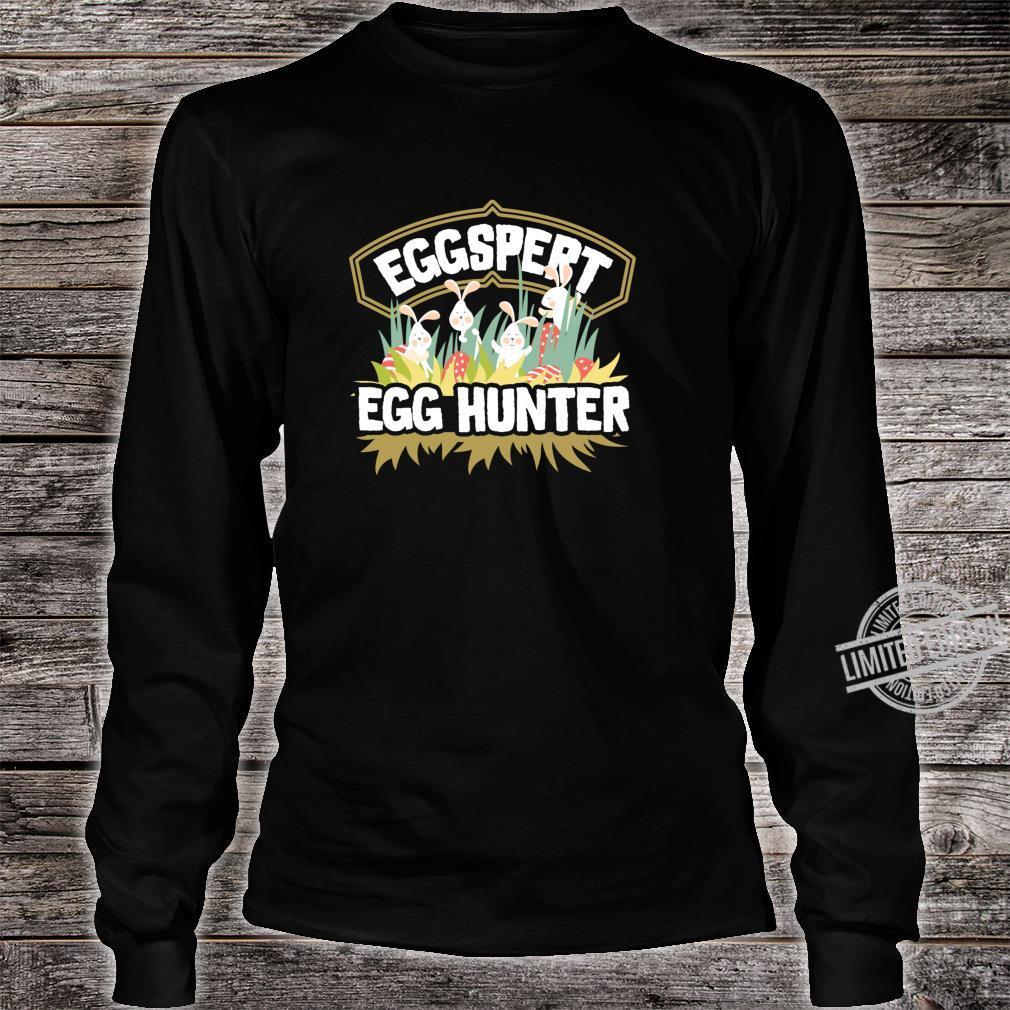 Easter Egg Hunt Shirt Eggspert Egg Hunter For & Family Shirt long sleeved