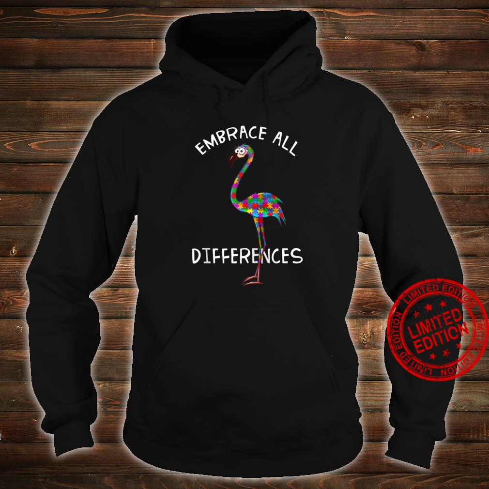 Embrace All Differences Puzzle Flamingo Autism Awareness Shirt hoodie