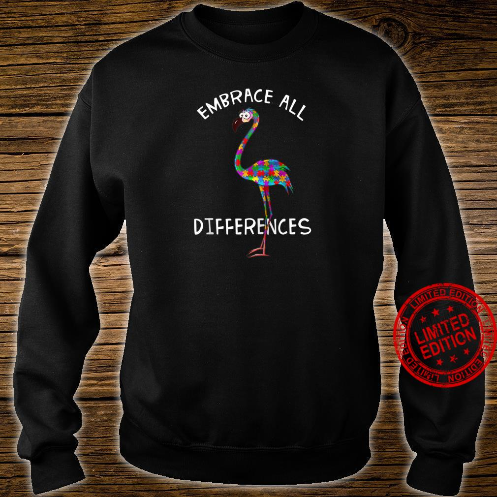 Embrace All Differences Puzzle Flamingo Autism Awareness Shirt sweater