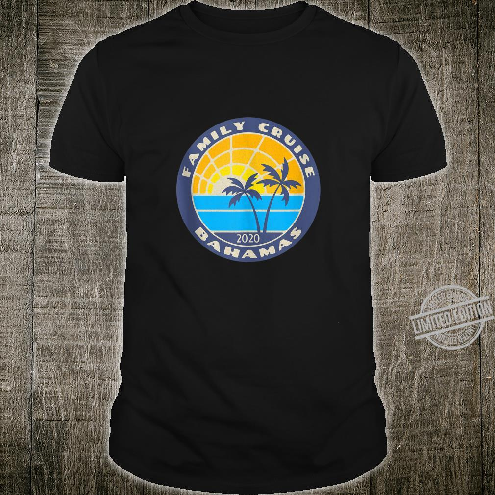 Family Cruise Bahamas 2020 Lite Retro Look Cruising Shirt