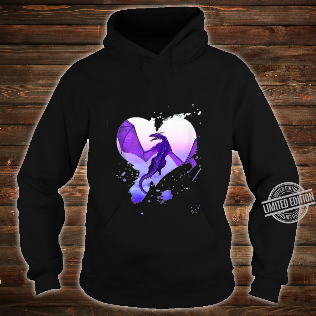 Fantasy Purple Heart Dragon By Rebellion Ink Shirt hoodie