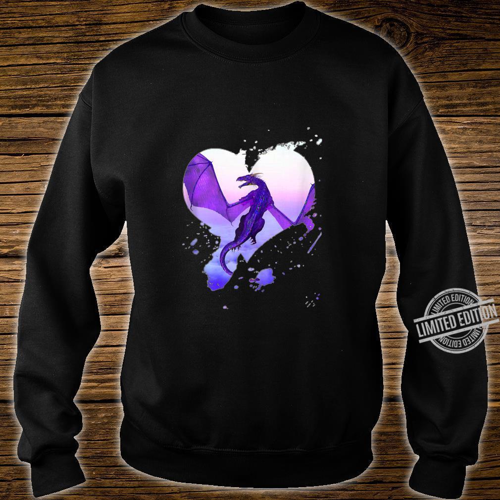 Fantasy Purple Heart Dragon By Rebellion Ink Shirt sweater