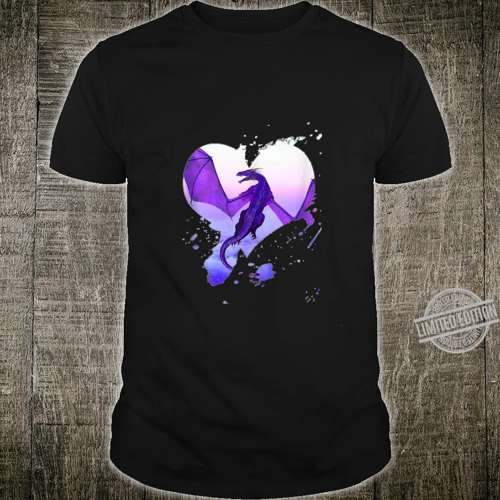 Fantasy Purple Heart Dragon By Rebellion Ink Shirt