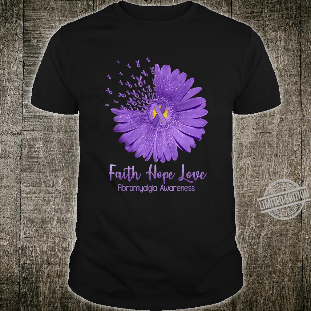 Fibromyalgia Awareness Purple Ribbon Faith Hope Love Shirt