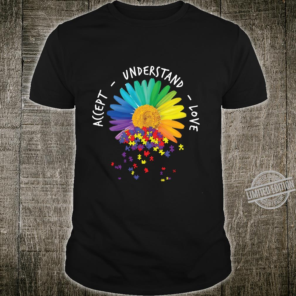 Floral Autism Awareness Daisy Flower For Mom Shirt