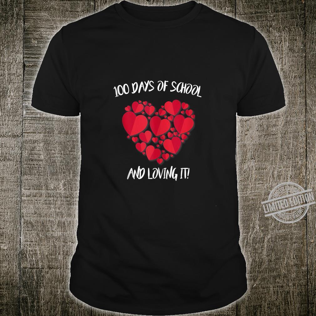 Funny 100th Day Of School Shirt Teacher Heart Valentine Day Shirt