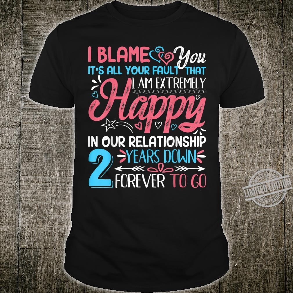 Funny 2nd Wedding Anniversary Couple Matching Outfit Shirt