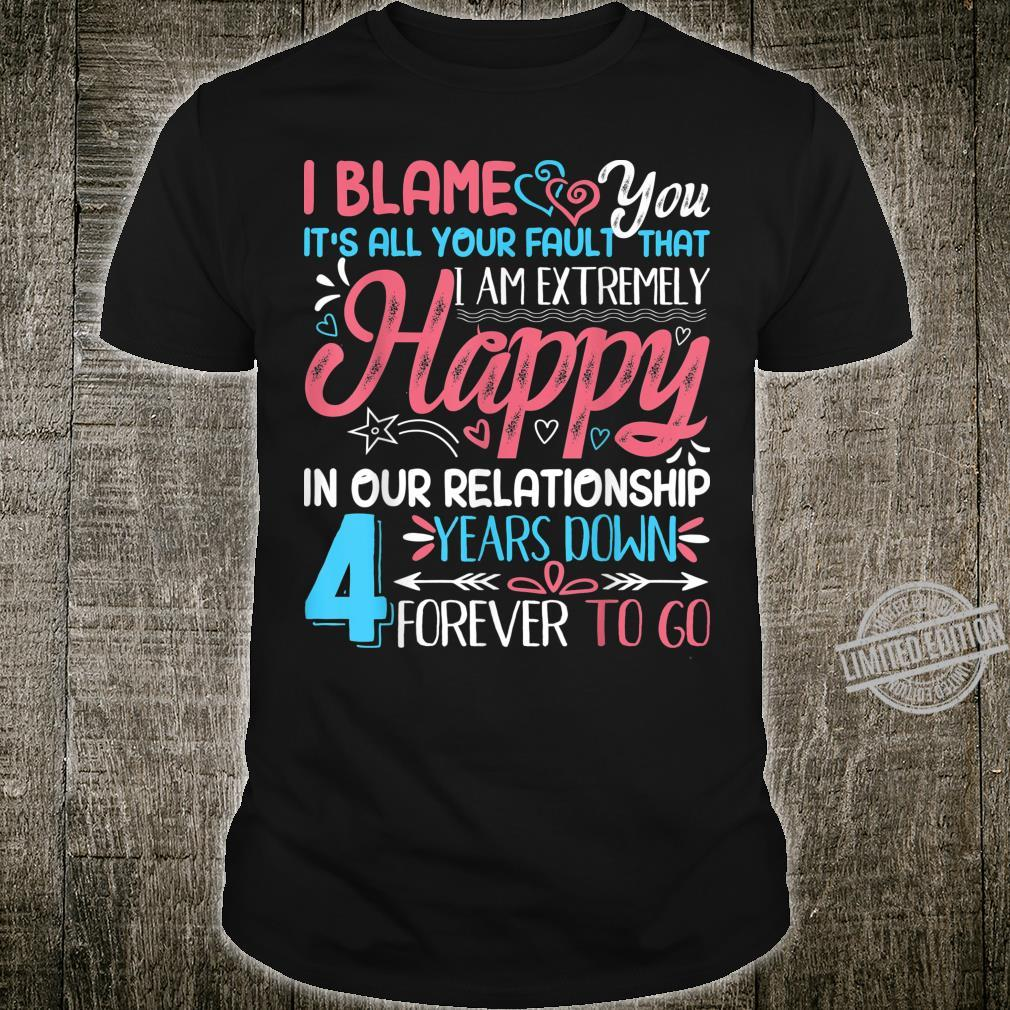Funny 4th Wedding Anniversary Couple Matching Outfit Shirt