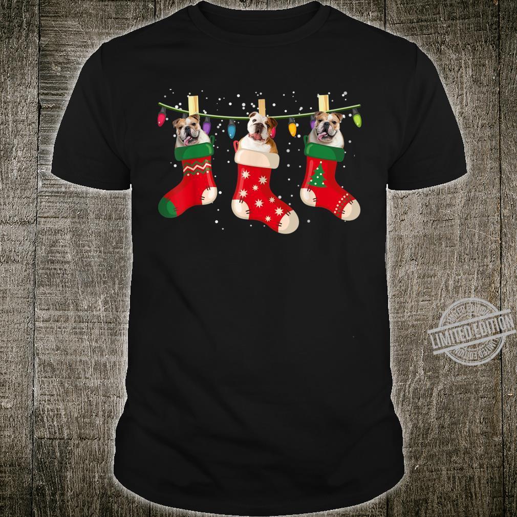 Funny Bulldog Dog Stocking Christmas Cute Socks Xmas Shirt