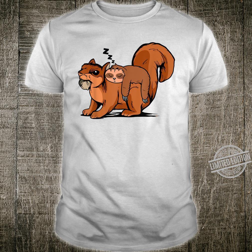 Funny Sloth Riding Squirrel Sloth Shirt