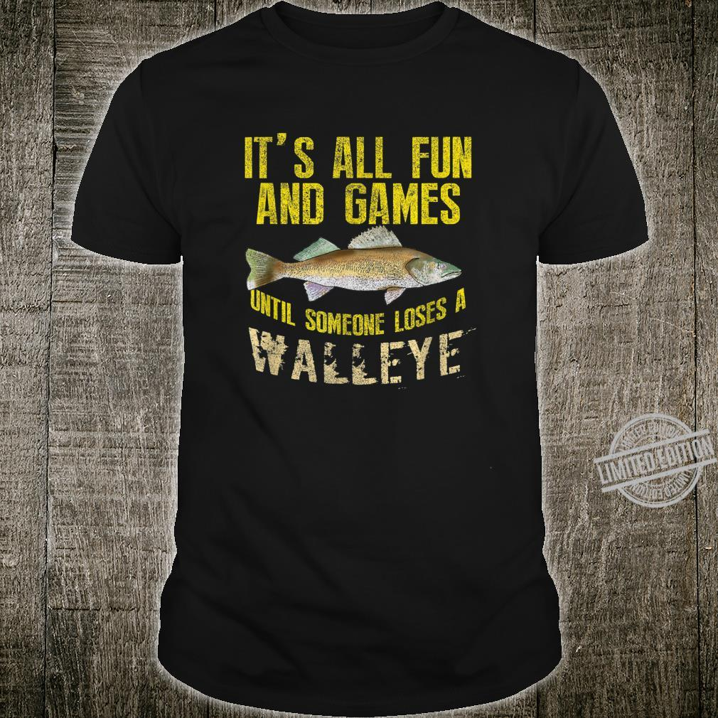 Funny Walleye Fishing Yellow Pike Freshwater Fish Shirt