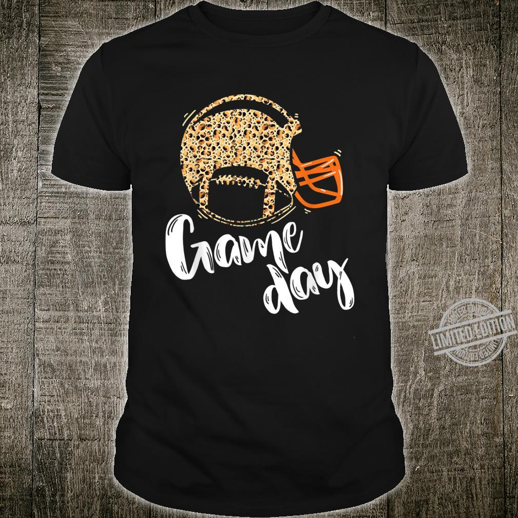 Game Day Football Helmet Leopard Sports Fans Shirt