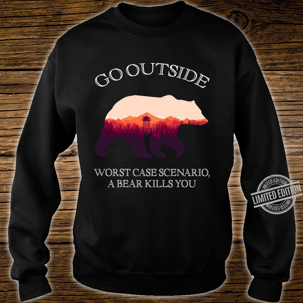 Go Outside Worst Case Scenario, A Bear Kills You Classic Shirt sweater