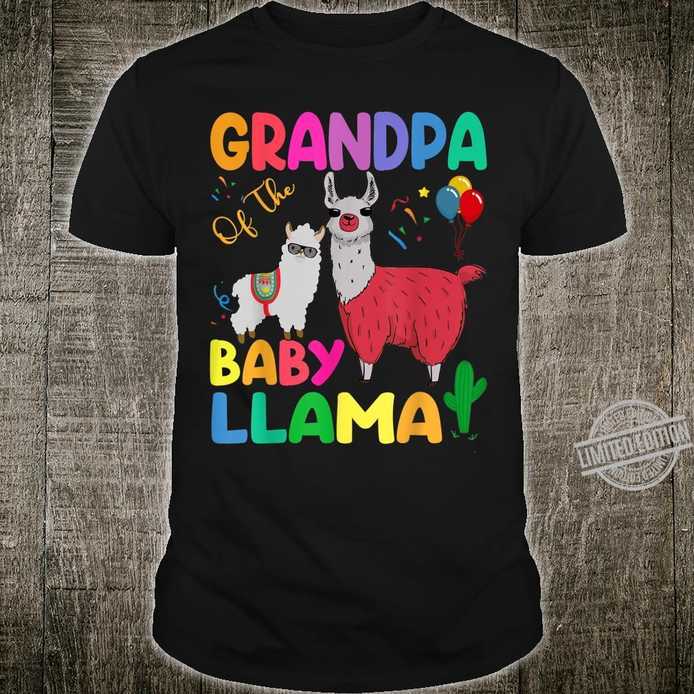 Grandpa Of The Baby Llama Birthday Grandpa Llama Shirt
