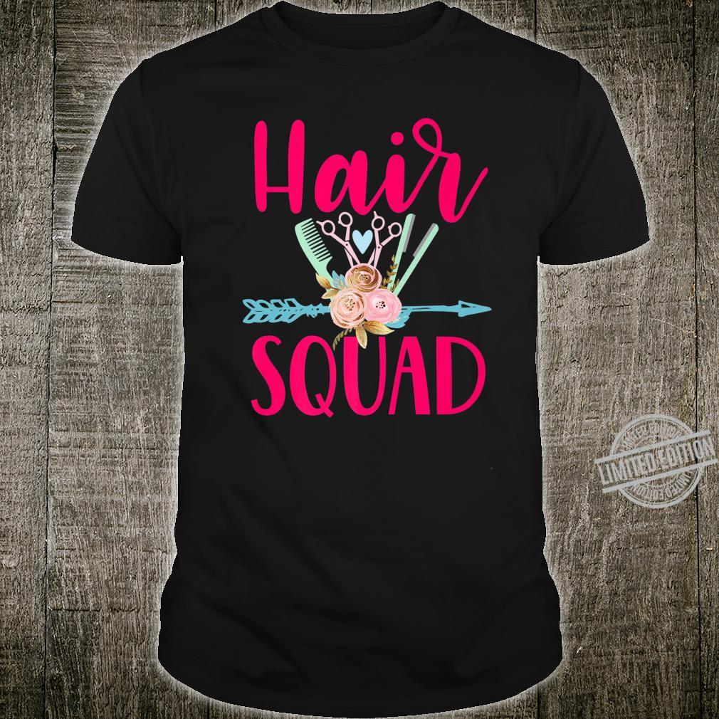 Hair squad cute hairstylist cosmetology beautician Shirt