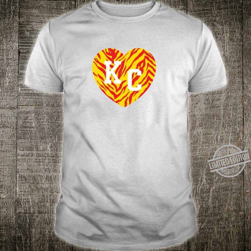 Heart Kansas City Kingdom 80s KC Zebra Stripes Kc Football Shirt