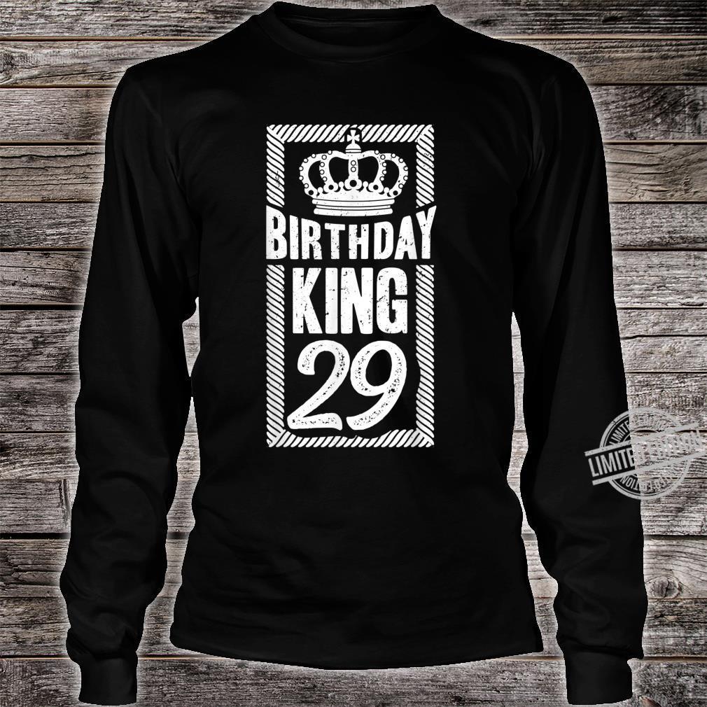Herren 29. Geburtstag Geschenk Jahrgang 1991 Birthday King Krone Shirt long sleeved