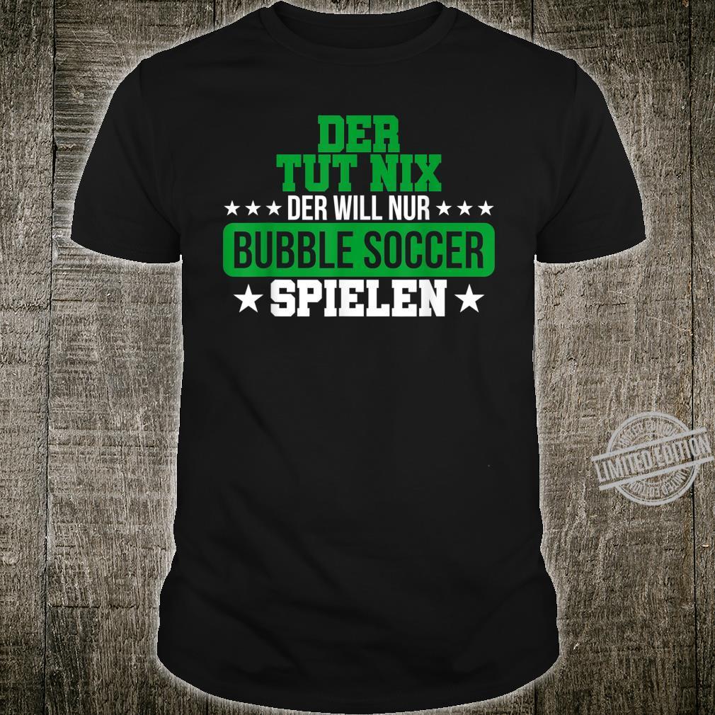 Herren Bubble Soccer Freizeit Hobby Bumper Geschenk Shirt