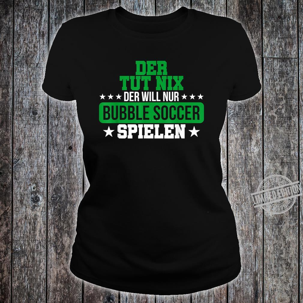 Herren Bubble Soccer Freizeit Hobby Bumper Geschenk Shirt ladies tee
