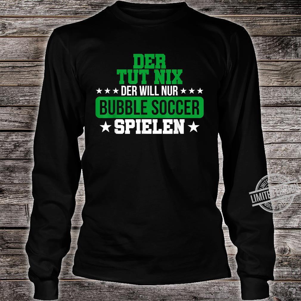 Herren Bubble Soccer Freizeit Hobby Bumper Geschenk Shirt long sleeved