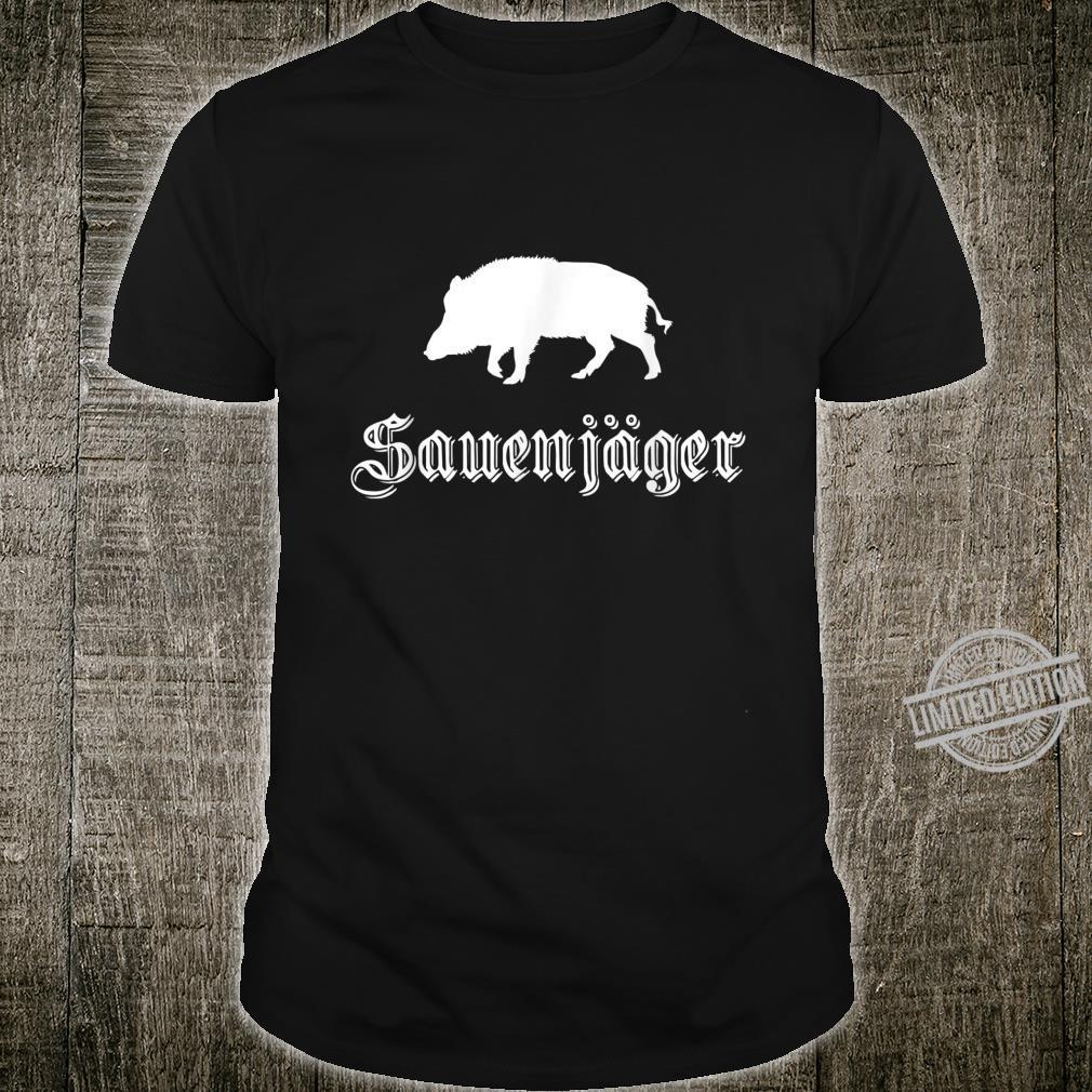 Herren Sauenjäger Jagd Outfit für Wildschwein Jäger Shirt