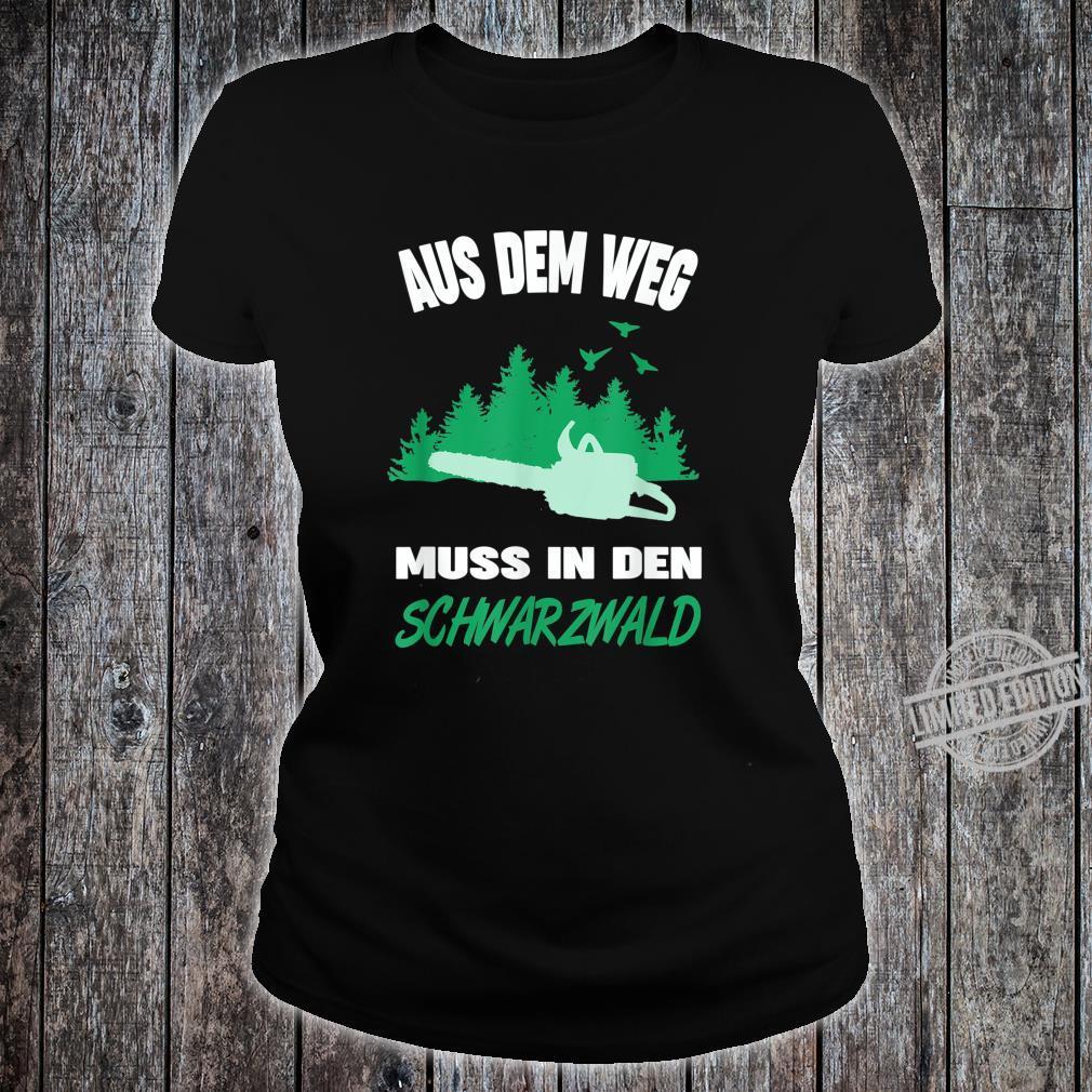 Herren Schwarzwälder Schwarzwald Heimat Motiv Förster Forstwirt Shirt ladies tee