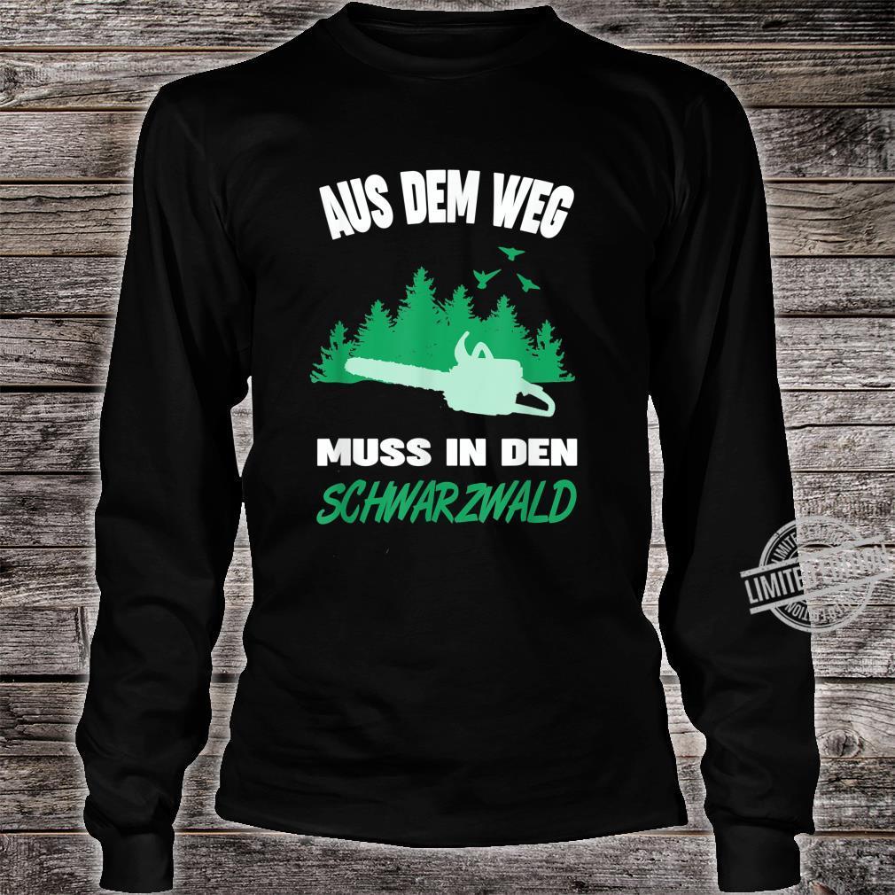 Herren Schwarzwälder Schwarzwald Heimat Motiv Förster Forstwirt Shirt long sleeved