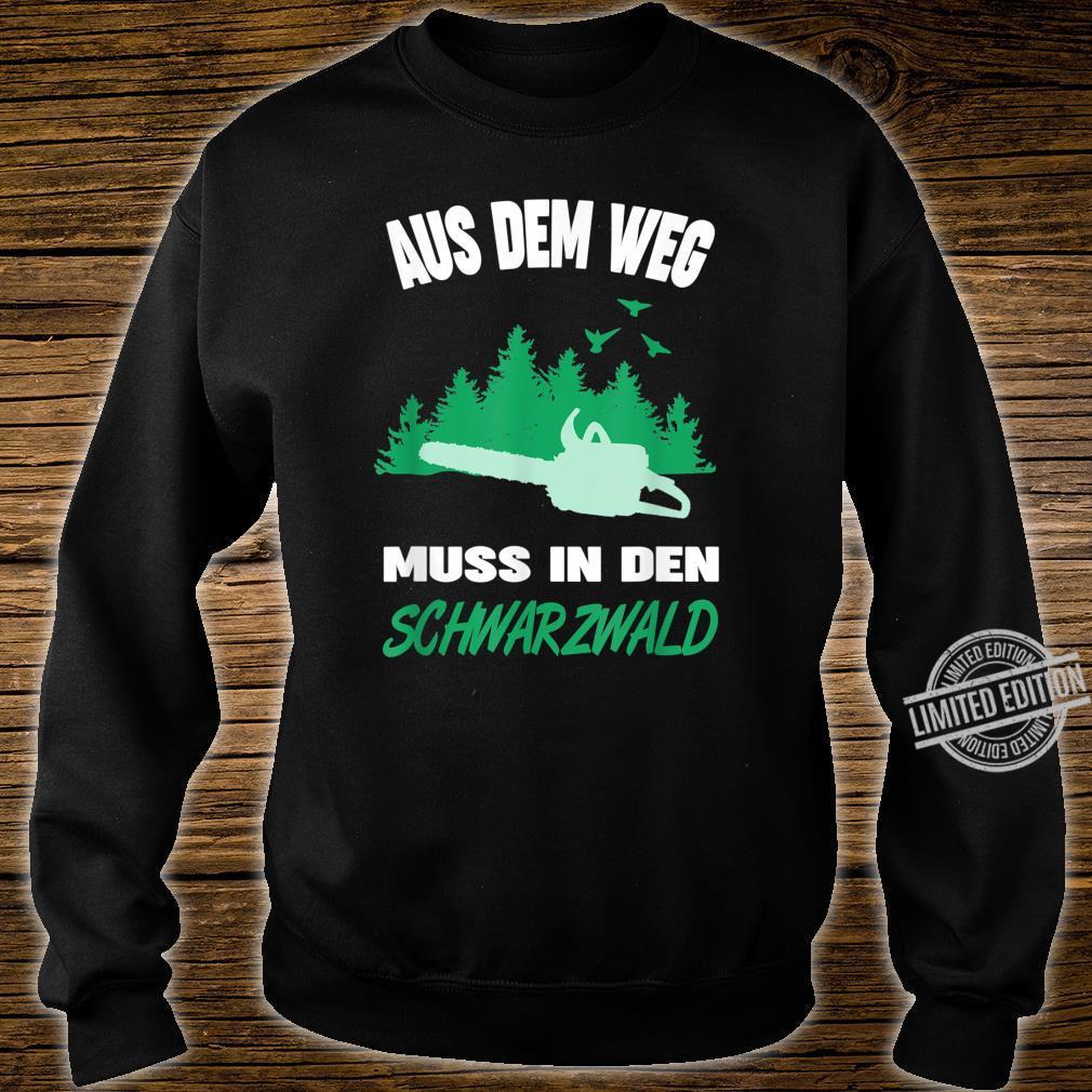 Herren Schwarzwälder Schwarzwald Heimat Motiv Förster Forstwirt Shirt sweater