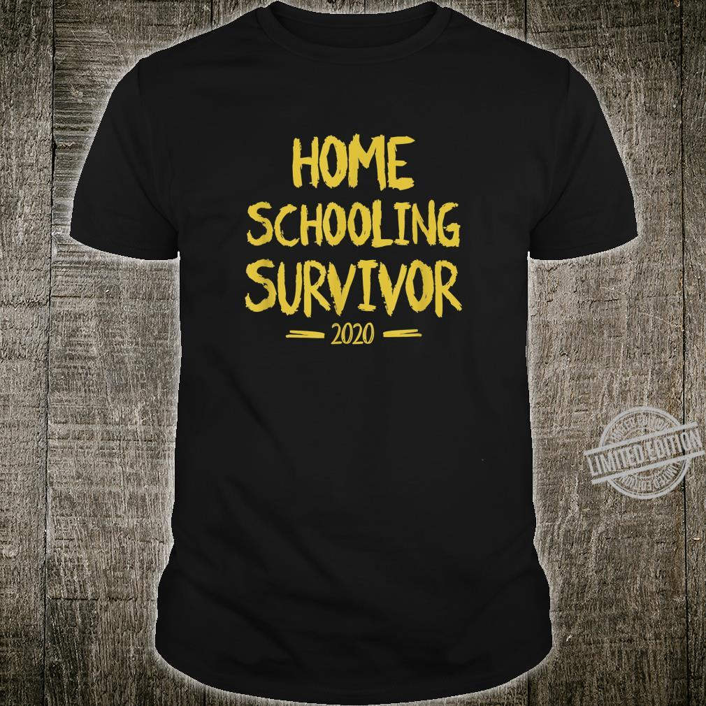 Home Schooling Survivor 2020 Sarcastic Home School Shirt