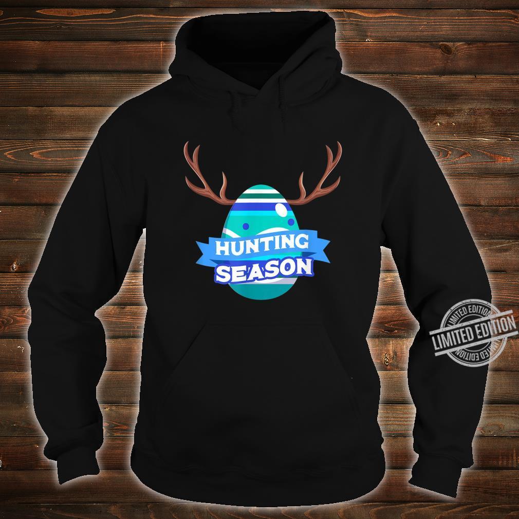 Hunting Season Easter Egg Basket Christian Shirt hoodie