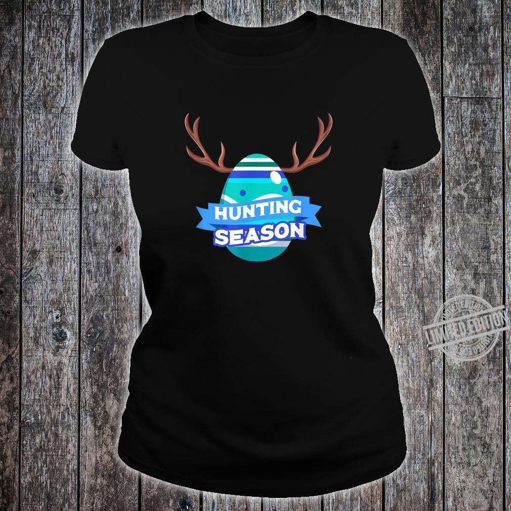 Hunting Season Easter Egg Basket Christian Shirt ladies tee