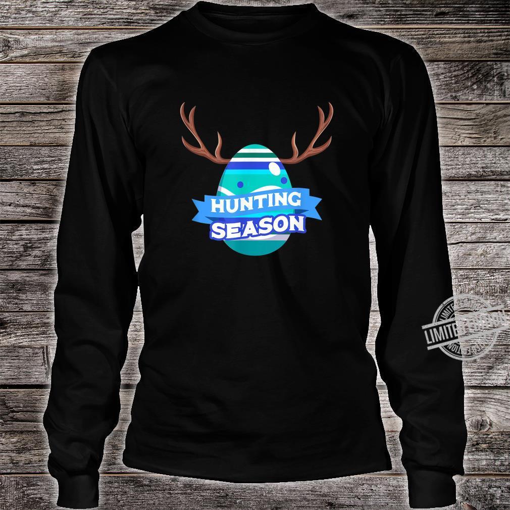 Hunting Season Easter Egg Basket Christian Shirt long sleeved