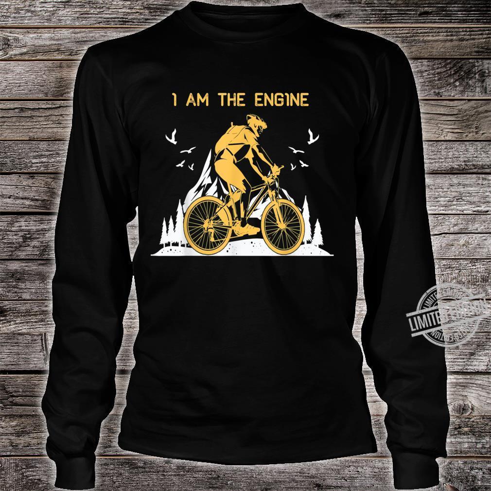 I Am THe Engine Vintage Downhill MTB Mountain Bike Shirt long sleeved